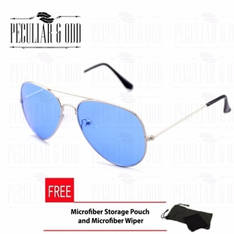 Retro Style Classic Aviator with Silver Blue Lens_3025 Unisex Sunglasses uv400