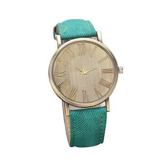 Retro Style Quartz Watch Denim Quartz Watches (Green)