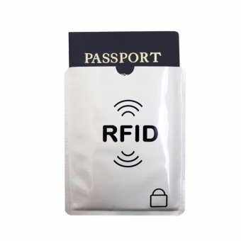 RFID Blocking Sleeves - Passport Identity Theft Protection Case& Credit Cards Protectors Holders - Shields Anti Theft (4 xCredit Card protector & 1 x Passport Case) - intl - 2