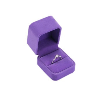 Ring Earrings Display Case Velvet Jewerly Gift Boxes Storage Case Box - intl