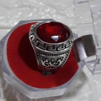 Ring with Charm stone RUBY size 9 hypoallergenic - 4