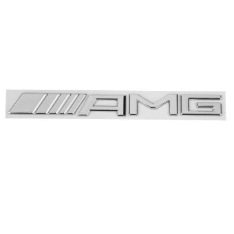 RIS 3D Metal AMG Logo Sticker Decal Badge Emblem for Mercedes BenzDecor -Silver