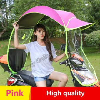Rising Star Motorcycle Bike E-Bike Canopy Umbrella Cover (Pink)