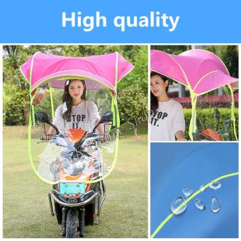 Rising Star Motorcycle Bike E-Bike Canopy Umbrella Cover (Pink) - 3