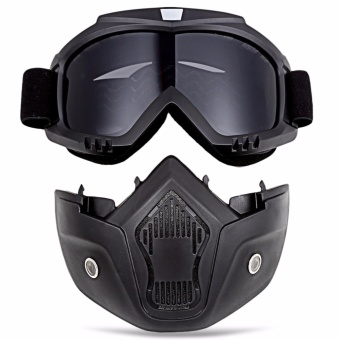 ROBESBON Motorcycle Anti-UV Goggles with Mask - intl - 3