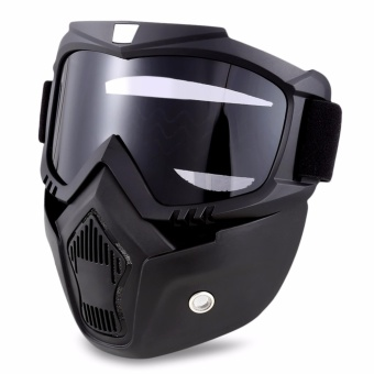 ROBESBON Motorcycle Anti-UV Goggles with Mask - intl - 2