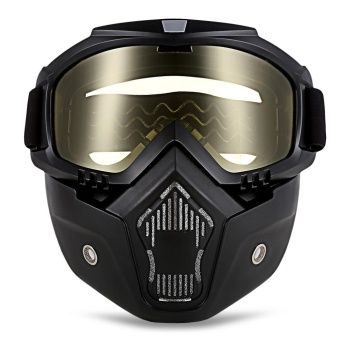 ROBESBON MT - 009 Motorcycle Goggles with Detachable Mask and Mouth Filter Harley Style Protect Padding Helmet Sunglasses - intl