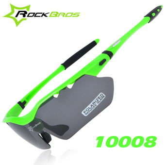 RockBros 5 Pairs Of Lens Polarized Cycling Glasses Sunglasses Outdoor Sports Eye Protector TR90 Bike Bicycle