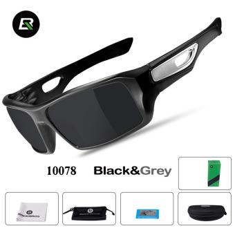 RockBros Cycling Glasses Polarized Sunglasses Outdoor Sport Bicycle Goggles Eye Protector, Black&Grey - intl