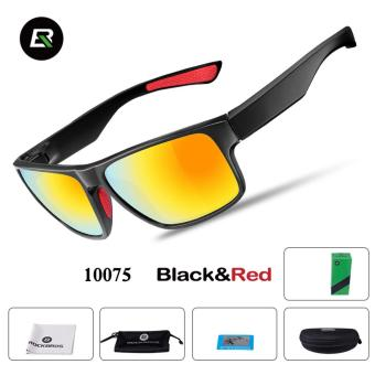 RockBros Cycling Glasses Polarized Sunglasses Outdoor Sport Bicycle Goggles Eye Protector, Black&Red - intl
