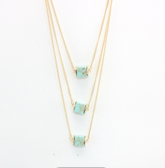 Roll piece European and American style origional development three layer necklace