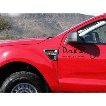 Rorychen Car Handle Dakar Car Reflective Letter Car Stickers SingleCar Sticker(Black) - intl Price Philippines