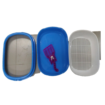 round mesh cat litter box (Blue) - intl