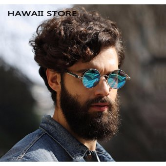 Round Metal Sunglasses Steampunk Men Women Fashion Glasses Brand Designer Retro Vintage Sunglasses UV400 - intl