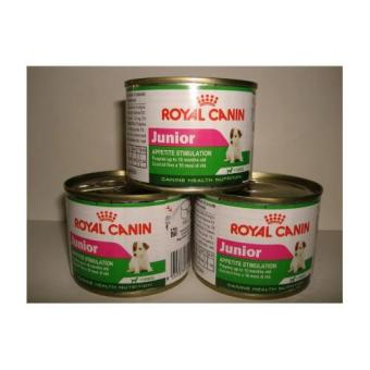 Royal Canin Junior Wet Dog Food Set of 3 Cans 195g