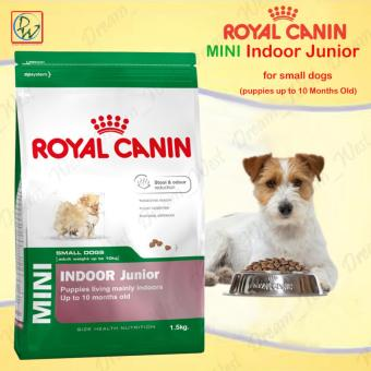 Royal Canin Mini Indoor Junior Puppies Up to 10 Months Old Dry DogFood 1.5kg