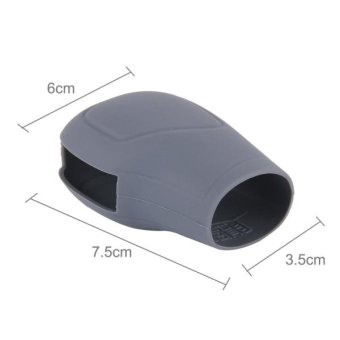 Rubber Car Hand Brake Head Cover Shift Knob Gear Stick CushionCover Car Accessory Interior Decoration Pad(Grey) - intl - 4