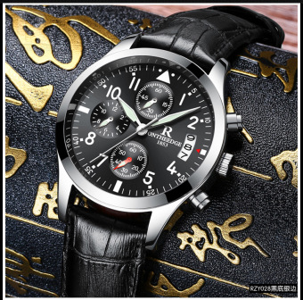 Ruizhiyuan leather stainless steel waterproof Yeguang watch New Style Watch