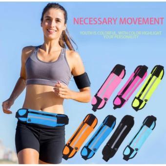 Running Waist Belt Sport Waterproof Multi-functional Mobile PhoneBag(Blue) - 2