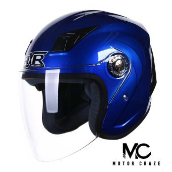RXR 007 Open Face Motorcycle Helmet (Blue)