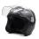 RXR 007 Open Face Motorcycle Helmet (Muted Black)