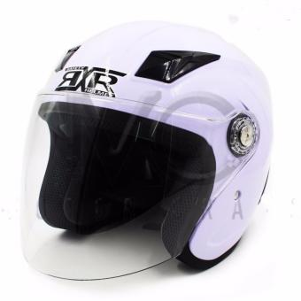 RXR 007 Open Face Motorcycle Helmet (White)