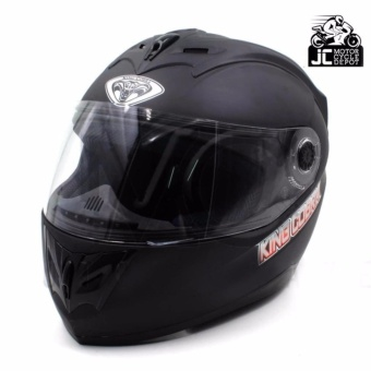 RXR KING COBRA K-691 A Full Face Helmet Motorcycle (Muted Black)