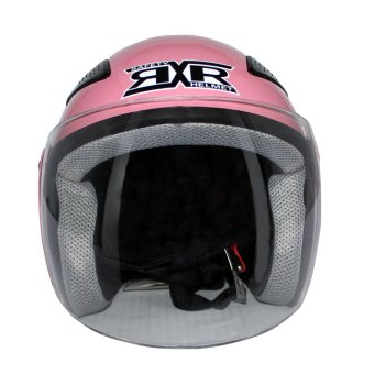 RXR King Cobra R-066B2 Open Face Motorcycle Helmet Heart Design(Pink/Pink)