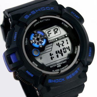 S-Shock Men's Blue/Black Rubber Strap Watch SKM-0939 - 2