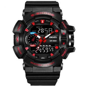 S Shock Sport Watches for Men 30M Waterproof Analog LED Digital Watch Military Army Clock Male Dive Quartz Watch Men GiftsWS 1436 - intl