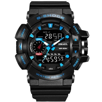 S Shock Sport Watches for Men 30M Waterproof Analog LED DigitalWatch Military Army Clock Male Dive Quartz Watch Men GiftsWS 1436 -intl