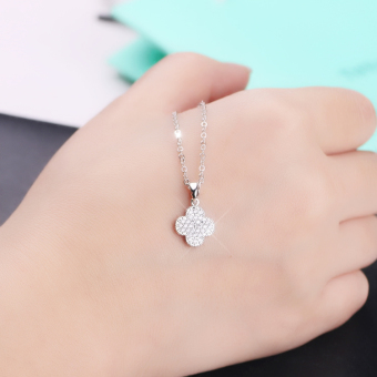 S925 day Korea silver full of crystals zircon pendant