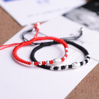 S925 silver handmade woven Chinese knot HOONS bracelet