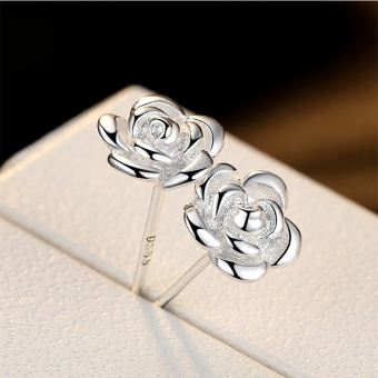 S990 fine silver stud sterling silver earrings