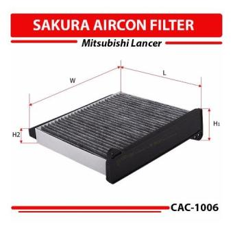 Sakura Aircon Filter for Mitsubishi Lancer/Montero 2.5/3.2 Model2010-up