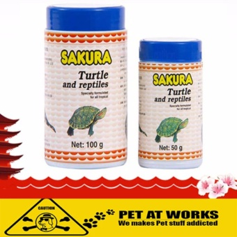Sakura Reptile and Turtle Food Stick (50g) for Pets Turtle Food