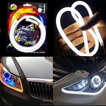S&L Led Flexible Eyeline (Eye Line) For Motor Strip Light 60CmWhite With Free Motorcycle Switch On/Off