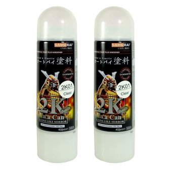 Samurai 2K01 Clear Top Coat Spray Paint (Pack of 2)