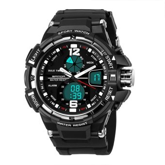 SANDA 289 Fashion Outdoor Multifunctional Sports Men'S Electronic Watch(silver)