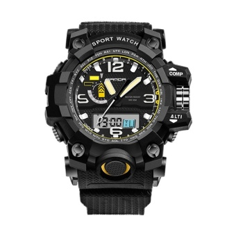 SANDA 732 Multifunctional Outdoor Sports Waterproof Shockproof Electronic Watch(black)
