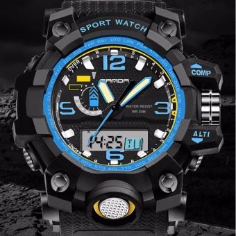 SANDA Men Quartz Digital Watch Sports S-Shock LED Waterproof Wristwatch - intl - 2