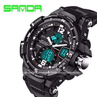 Sanda Men's Full Featured Dual Digital-Analog Time Sports Watch Price Philippines
