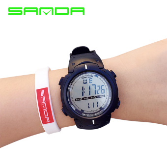 SANDA outdoor running large dial multifunction sports watch electronic watch