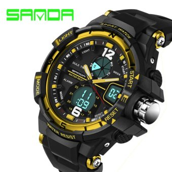 SANDA Sport Watch Men Fashion 2017 Clock Male Men's Top Brand Luxury Military Watches Digital & Quartz-Watch relogio masculino 289 - intl