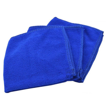 Sanwood Blue Soft Microfiber Cleaning Towels For Car Auto Care 5Pcs