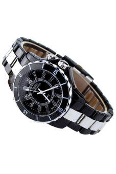 Sanwood Men's Steel LED light Dial Quartz Sport Wrist Watch Black