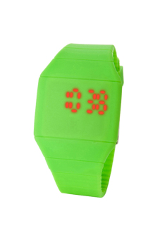 Sanwood Touch Digital Unisex Silicone Strap Watch Green
