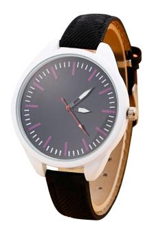 Sanwood Women's Jean Fabric Strap Quartz Wrist Watch Black