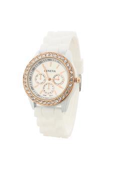Sanwood Women's Silicone Strap Wrist Watch White