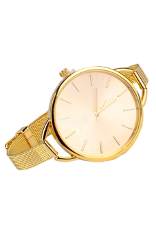 Sanwood Women's Stainless Steel Strap Wrist Watch Golden